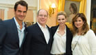 Photo: Roger Federer and wife Mirka meet Prince Albert of Monaco