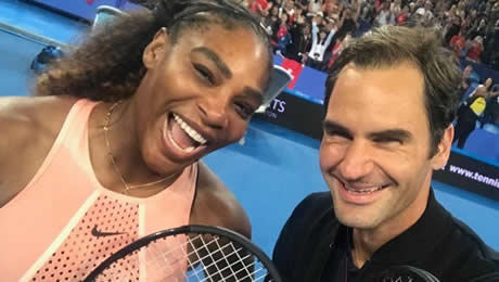Hopman Cup: Serena Williams and Roger Federer draw record crowds for memorable encounter