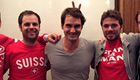 Photo: Roger Federer poses with Stan Wawrinka after rift reports