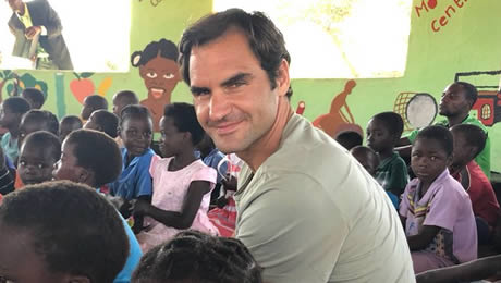 For Roger Federer, tennis takes a back seat as his focus turns to Foundation and Zambia