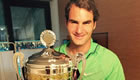 Photo: Roger Federer all smiles after first clay triumph since 2012