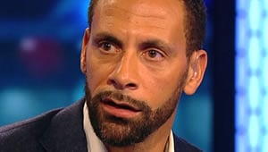 Rio Ferdinand reacts to Arsenal's 3-0 win over Chelsea
