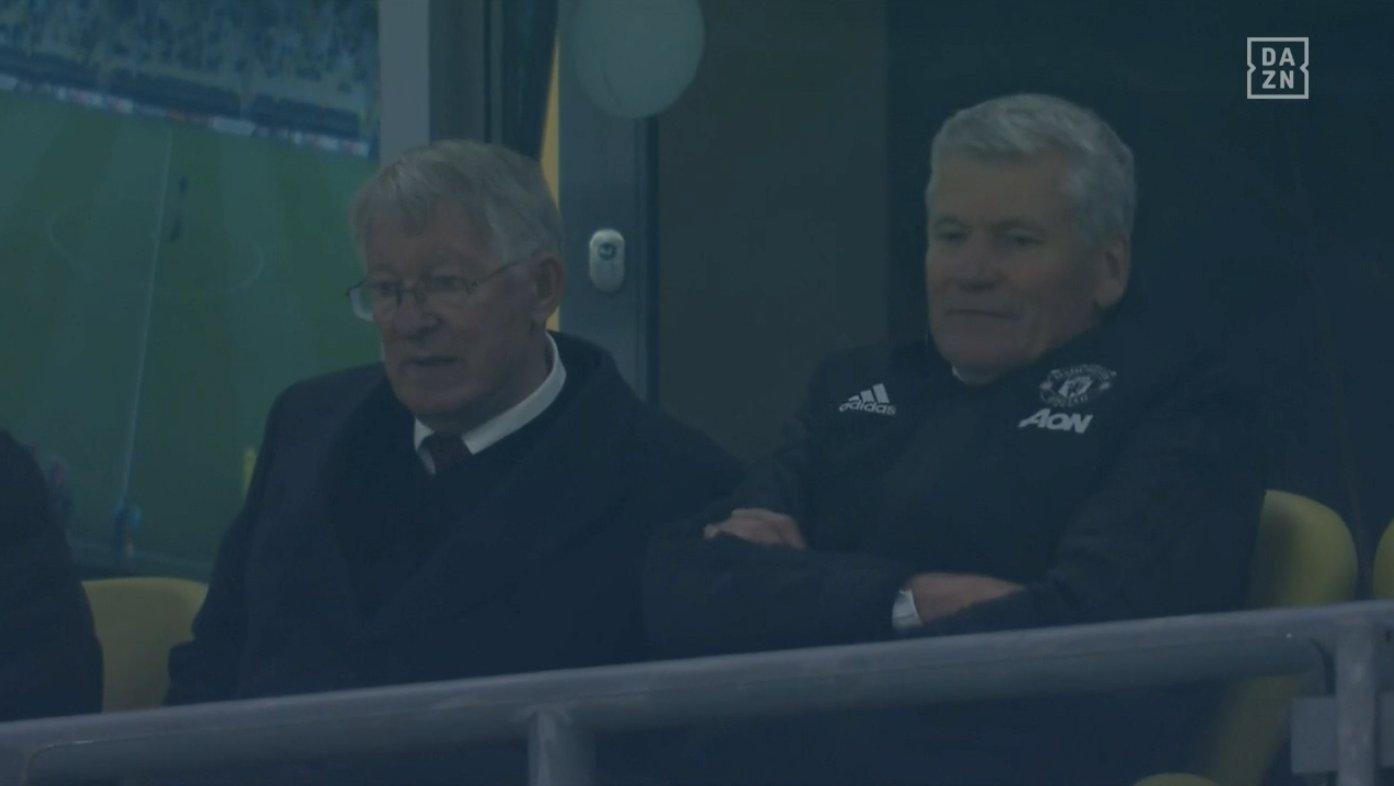 Sir Alex Ferguson and David Gill (Photo: DAZN / Screen grab)