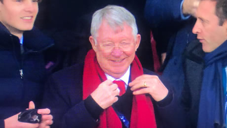 Photo: Sir Alex Ferguson reacts to Man United's 1-0 win at Tottenham