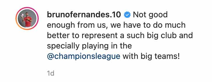 Bruno Fernandes insta