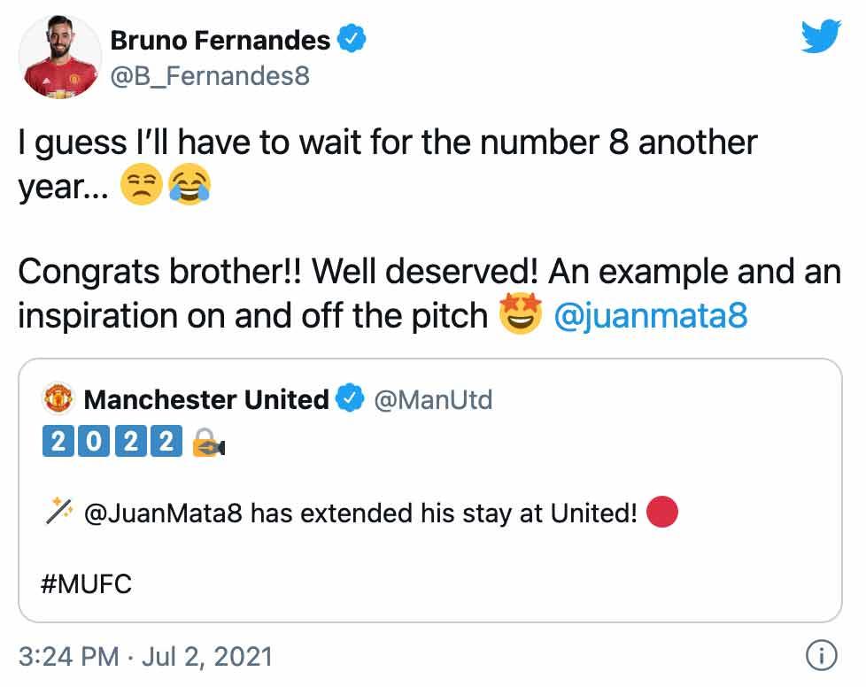 Fernandes Mata tweet