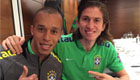 Filipe Luis takes a snap with Man Utd target
