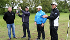 Golf trio prepare for PGA Championship with footgolf challenge
