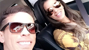 Photo: Injured Arsenal defender all smiles with wife in Instagram selfie