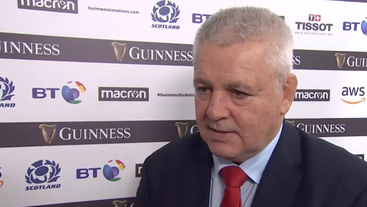 Warren Gatland (Photo: BBC Sport / Screen grab)