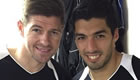 Photo: Liverpool's Steven Gerrard declares his love for Luis Suarez