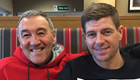 Photo: Liverpool's Steven Gerrard catches up with coach and mentor