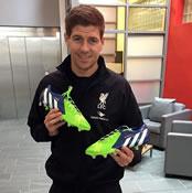 Photo: Liverpool captain Steven Gerrard shows off 'supernatural' boots