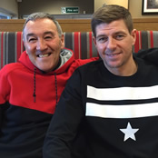 Gerrard catches up with coach and mentor