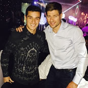Gerrard catches up with Liverpool icons