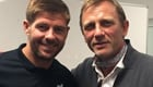 Photos: Liverpool captain Steven Gerrard meets James Bond