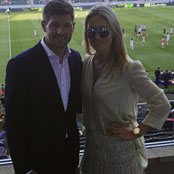 Gerrard attends LA Galaxy game