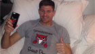 Photo: Liverpool's Steven Gerrard shows off Dejan Lovren's t-shirt in bed