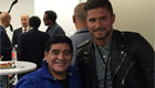 PHOTO: Giroud meets 'Golden Boy' Maradona