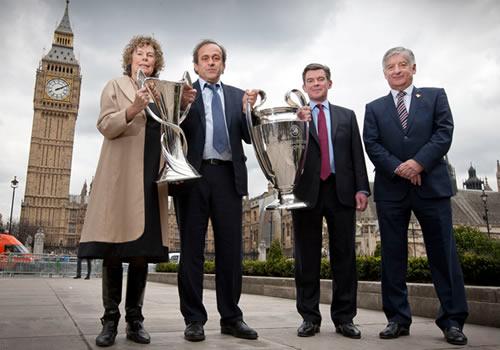 champions league trophy handover