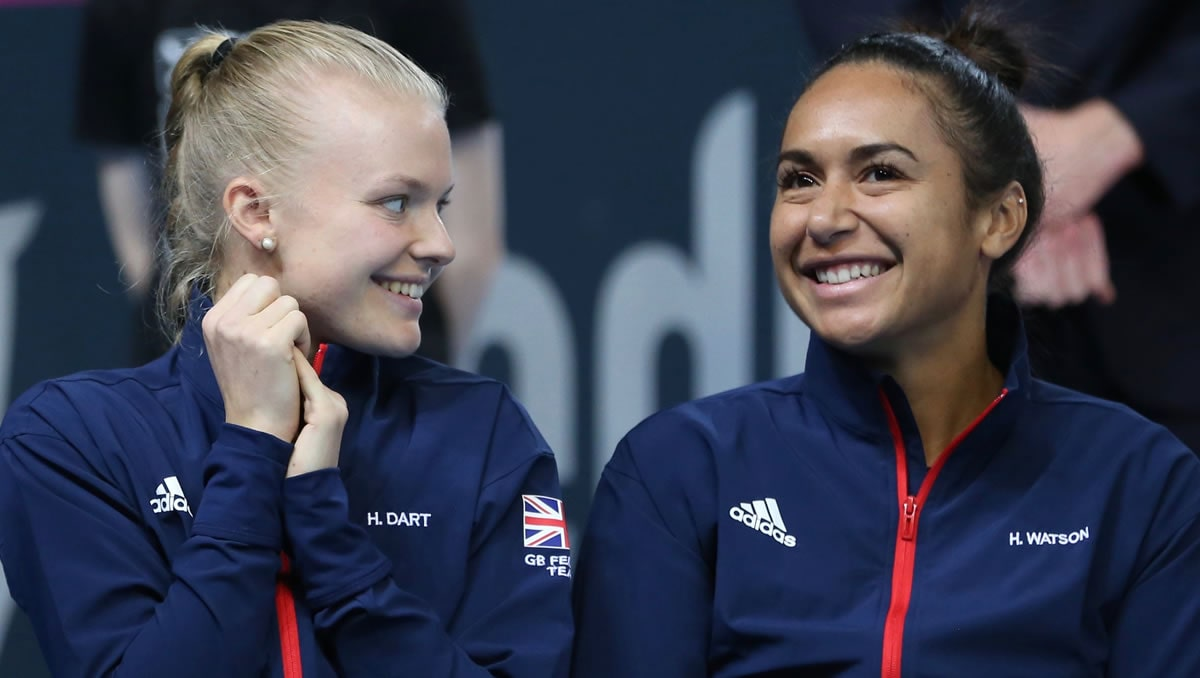 Heather Watson and Harriet Dart
