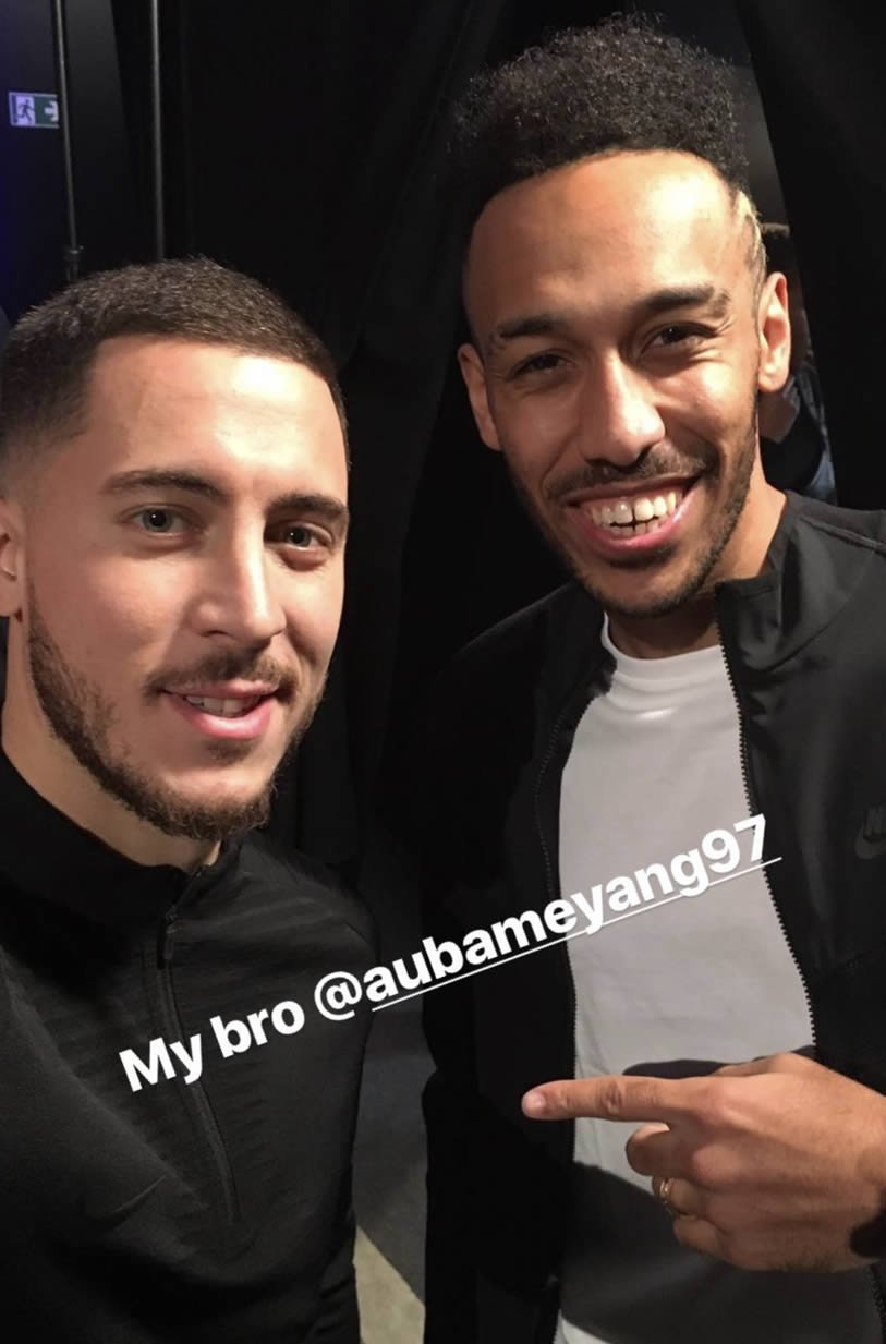 Hazard and Aubameyang