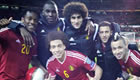 Photo: Eden Hazard all smiles with Man Utd star after Belgium win