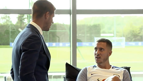 Photos: Chelsea's two new signings meet Eden Hazard at Cobham