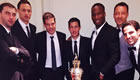 Photo: Eden Hazard poses with six Chelsea players at PFA awards ceremony
