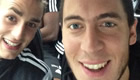 Photos: Eden Hazard and Cesar Azpilicueta ready for Chelsea clash