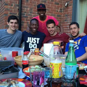 Hazard enjoys barbecue with Chelsea stars