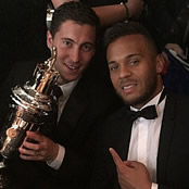 Chelsea stars congratulate Hazard on award