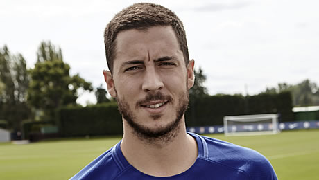 Eden Hazard reacts to Chelsea's 4-0 win over Qarabag