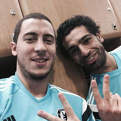 Photo of Mohamed Salah & his friend  Eden Hazard