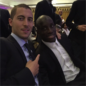 Hazard poses with 'brother for life' Ba