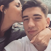 Bellerin all smiles with his girlfriend