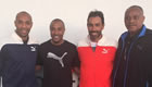 Photo: Arsenal legends all smiles with former athletes