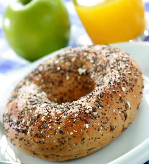 high protein snacks bagel