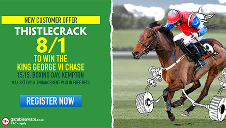 King George VI Chase betting: Get 8/1 enhanced odds on Thistlecrack or Cue Card to win