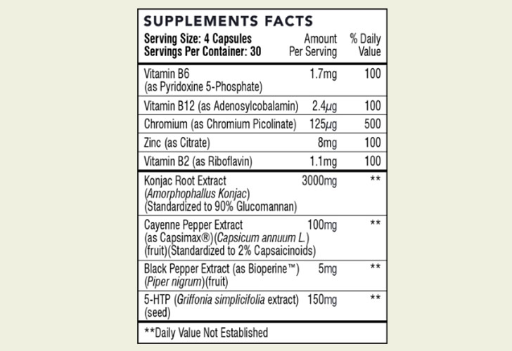 The updated Hourglass Fit ingredients formula, as shown on the official website at the time of writing