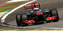 Button sets pace in final practice in Brazil