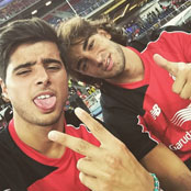 Liverpool duo snap Instagram selfie