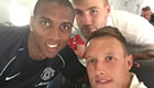 Man Utd trio all smiles on flight to Chicago
