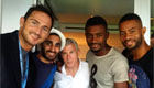 Kalou catches up with Chelsea legend in New York