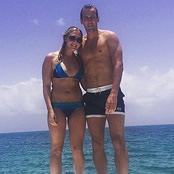 Kane enjoys boat trip with his girlfriend