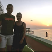 Kane enjoys romantic sunset with girlfriend