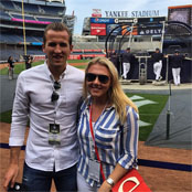 Kane brings girlfriend to Yankees game