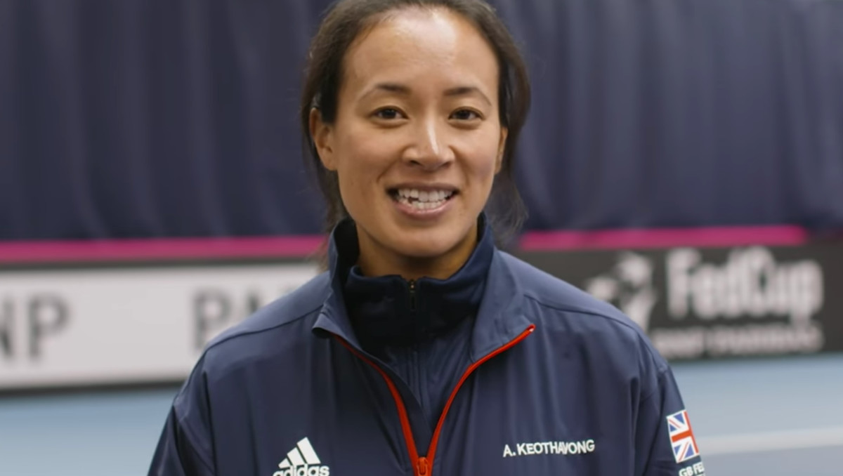 Fed Cup captain Anne Keothavong (Photo: Screengrab)