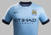 Pictures: Man City unveil new home kit for 2014-15 season