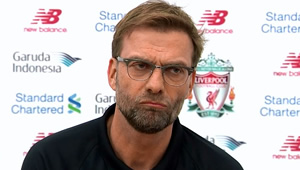 Jurgen Klopp reacts to Liverpool's 0-0 draw with Augsburg